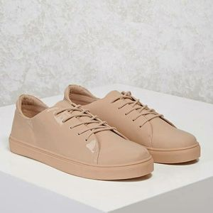 Faux Patent Leather Sneakers